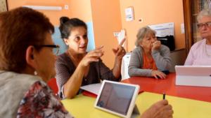"""atelier mémoire """"mémoire en jeux"""" auprès de personnes âgées en résidence seniors : Prodessa. Bilan de séance."""