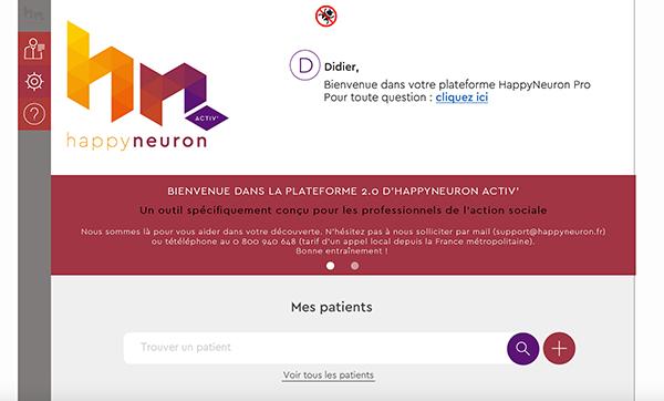 Plateforme HappyNeuron Activ'